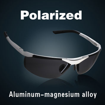 2017 New Fashion Aluminum Magnesium Alloy Polarized Sunglasses For Men Male Car Driving Sun Glasses Multicolor Coating Lenses