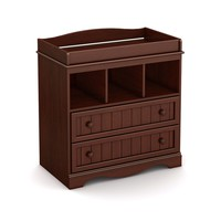 Royal Cherry Wood Baby Diaper Changing Table with 2 Drawers