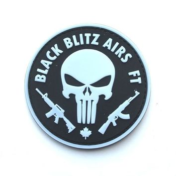 PVC the punisher skull  patch Glow in the dark Morale  Patches  military  tactical cap patches rubber armband  for vest