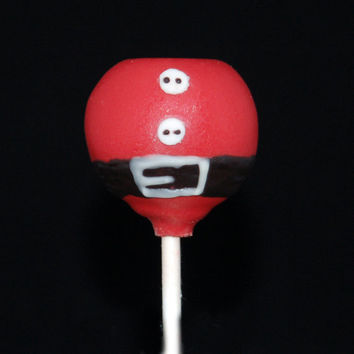 CHRISTMAS CAKE POPS, Santa's Belly Cake Pops, Christmas Party Treats, Holidays Party Favors, Christmas Gifts