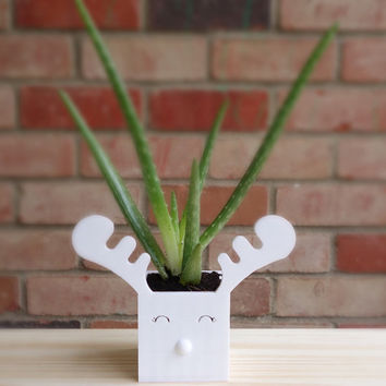3D Printed Reindeer Planter / Container/ Home Decor