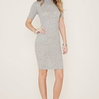 Marled Mock Neck Dress | Forever 21 - 2000169428