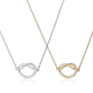 yiustar  New Fashion Simple Love Heart Knot Pendant Necklace for Women