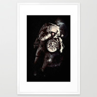 It's A Small World After All Framed Art Print by Nicebleed