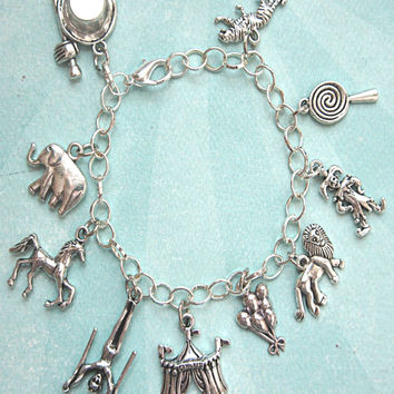 circus/carnival charm bracelet