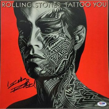 DCCKJNG Keith Richards Signed Autographed 'Tattoo You' Rolling Stones Record Album (PSA/DNA COA)