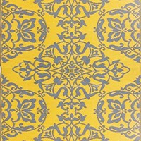Mad Mats Wrought Iron Indoor/Outdoor Floor Mat, 4 by 6 Feet, Yellow Silver: Amazon.ca: Home & Kitchen