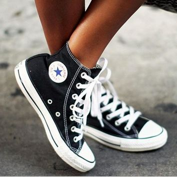 Adult Leisure Converse All Star Sneakers High-Top Leisure shoes Black-1