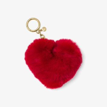 Fur Heart Key Chain | Michael Kors