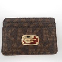 MICHAEL Michael Kors Item Card Case MK Signature PVC