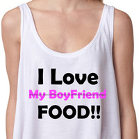 I love food crop top