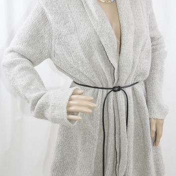 Vintage Long Sweater with Belt