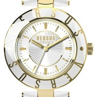 Women's VERSUS by Versace Logo Leather Strap Watch, 34mm