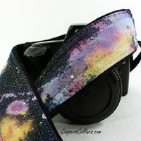 314 Hand Painted Galaxy Camera Strap, OOAK, One of a Kind, dSLR or SLR, Cosmos, Nebula, OOAK, w