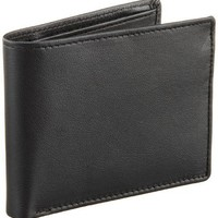 Perry Ellis Men's Gramercy Slimfold Wallet, Black, One Size