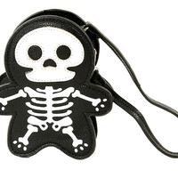 Cute Little Spooky Skeleton Wristlet Coin Purse Bag