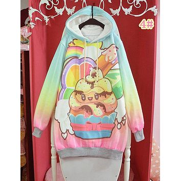 Women Cute Cupcake Harajuku Hoodies