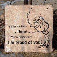 """Dr. Seuss - """"I'll bet you know a thing or two!.."""" Tile Art"""