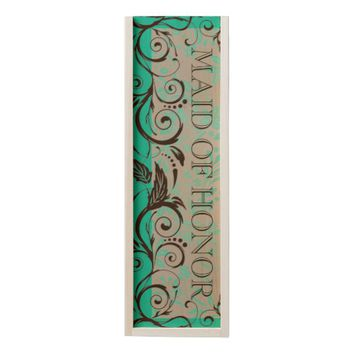 WILL YOU BE MY MAID OF HONOR WOODEN WINE BOX
