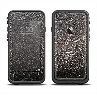 The Black Unfocused Sparkle Skin Set for the Apple iPhone 6 LifeProof Fre Case