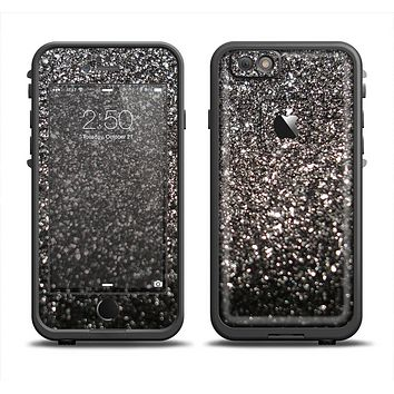 The Black Unfocused Sparkle Apple iPhone 6 LifeProof Fre Case Skin Set