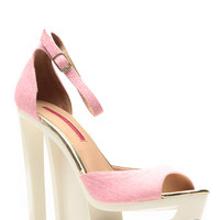 C Label Abstract in Pink Dolce Cut Out Heels