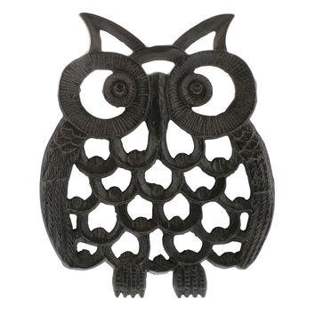Owl Cast Iron Trivets - Set of Two