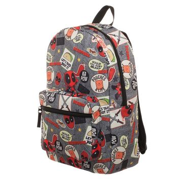 MPBP Deadpool Backpack  Marvel Deadpool Patches Backpack
