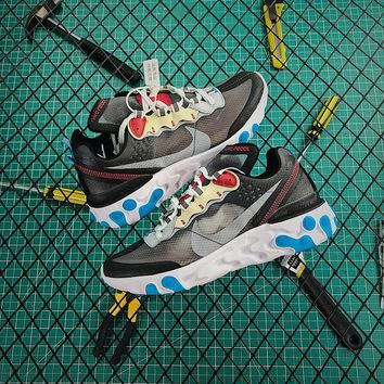 Nike Upcoming React Element 87 Dark Grey Sport Running Shoes - Best Online Sale