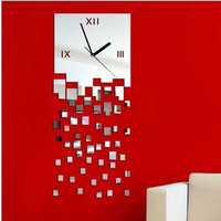 Mirror Stylish Strong Character Decoration Clock [6057116417]