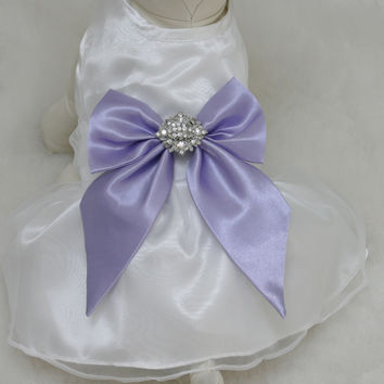 Lavender Dog Dress, Dog Birthday gift, Pet wedding accessory