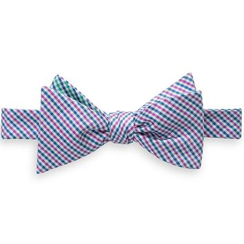 The Prep School Gingham Reversible Bow Tie in Pink by Southern Tide