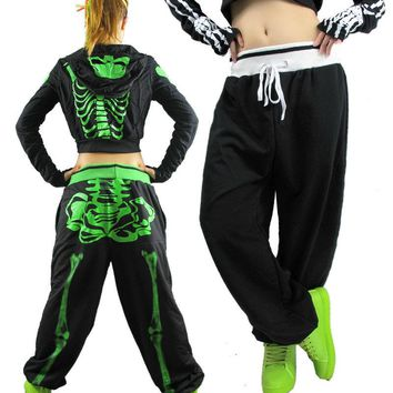 Skull loose Harem Hip Hop Dance Pants casual  thin Sweatpants