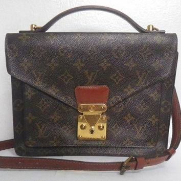 PEAPYD9 authentic vintage Louis Vuitton LV Monogram Monceau bag