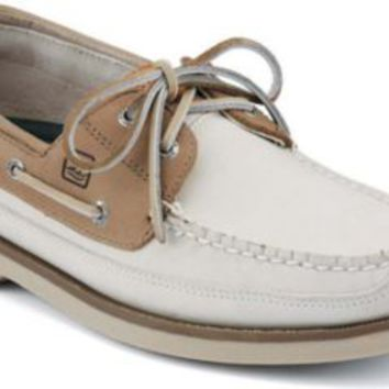 Sperry Top-Sider Mako 2-Eye Canoe Moc Boat Shoe Oyster/taupe, Size 8.5M  Men's Shoes
