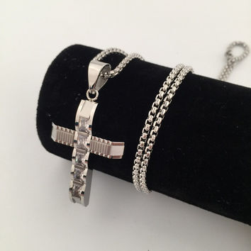 Shiny Gift New Arrival Jewelry Stylish Hip-hop Club Cross Rack Necklace [9095361991]