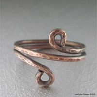 Copper Wire Wrap BOHO Chic Ring