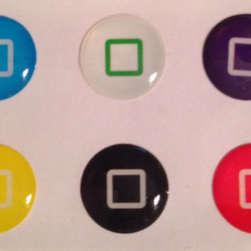 iPhone home button stickers. So cute, so fun. Set of 6. US Seller. Receive in a few days, not weeks! FREE shipping to US only ;).
