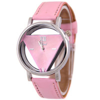 Womens PinkLeather Watch