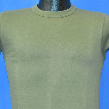 80s Military Olive Drab Blank Cotton t-shirt Small