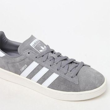 DCCKJH6 adidas Campus Grey and White Shoes