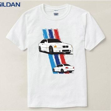 Vintage dry fit t shirt men BMW E36 M3 supercar Print funny t-shirt 100% cotton casual tshirt Tee Top