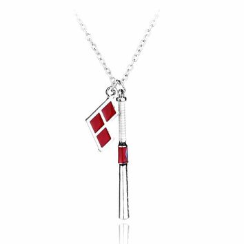 2016 New Arrivals Suicide Squad Harley Quinn Baseball Bat Pendant Necklace High Quality Women And Men Jewelry can dropshiping