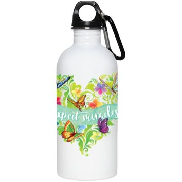 """""""Expect Miracles"""" - Stainless Steel Water Bottle (Small)"""