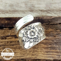 Jubilee Wrapped Silverplate Spoon Ring