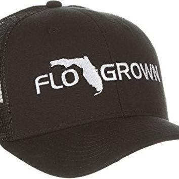 FloGrown Mens Solid Embroidered Hat One Size Black