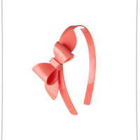 Lilies and Roses Rosane Big Bow Headband in Coral