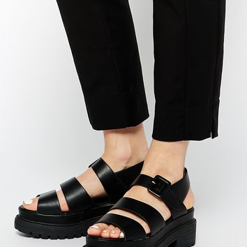 Truffle Collection Ocean Chunky Strap Flat Sandals at asos.com