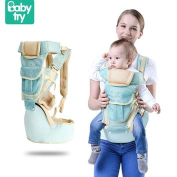 Babytry 3D Mesh Multifunctional Breathable Waist Stool Infant Hipseat Sling Backpack Baby Carrier Belt Harness For Kids