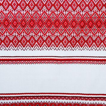 "Ukrainian woven fabric ""Ornament"" by yard."